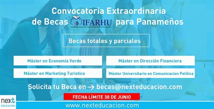 Convocatoria Extraordinaria de Becas IFARHU