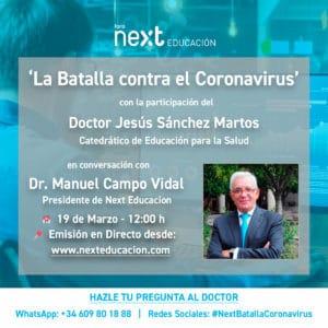 """Doctor Jesús Sánchez Martos en Foro Next """"La batalla contra el coronavirus"""""""