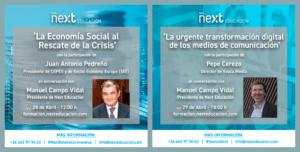 Juan Antonio Pedreño y Pepe Cerezo en Foro Next Educación