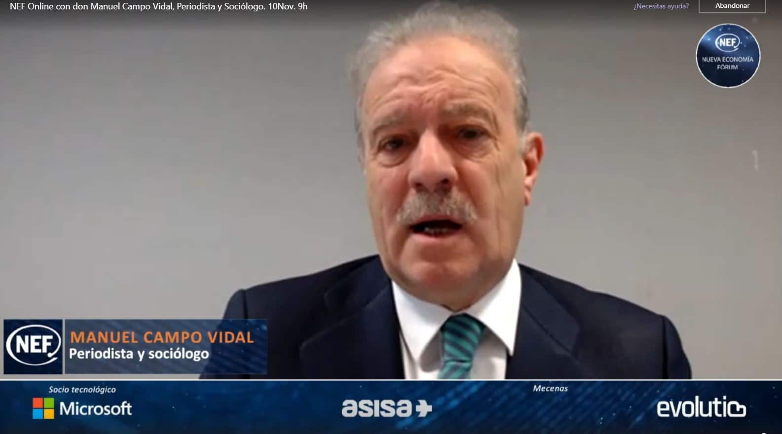 Manuel Campo Vidal habla sobre la España Despoblada en Nueva Economía Forum